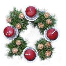 Svícen adventní (4 svíčky)
